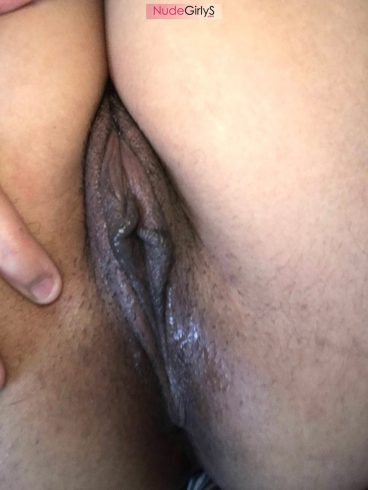 Sexy vagina wet sticky grool behind photo