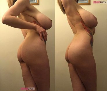 Sweet hot curvy Aloe Goddess amateur from the side