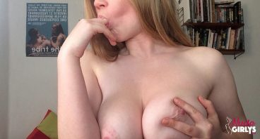 Tasteful naked blonde tits finger looking good