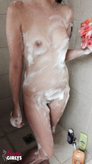 Soapy amatuer girlfriend tits shower nude tiny tits exposed