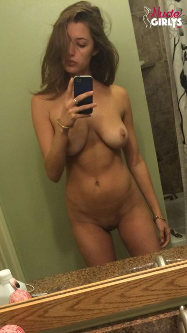 Sweet naked college selfie natural sexy tits picture