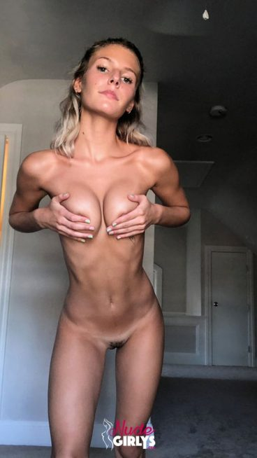 Fresh young skinny blonde tits squeezed leaked